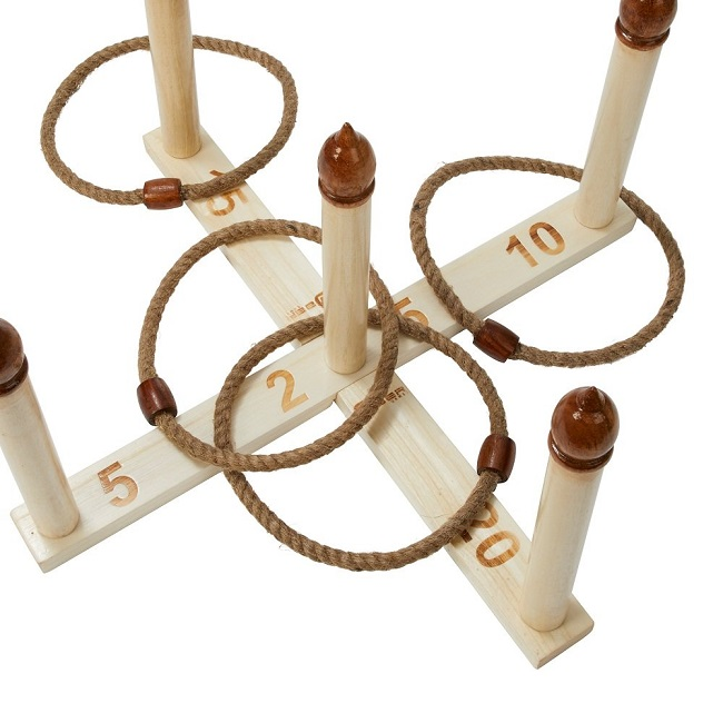Five Peg Quoits Set