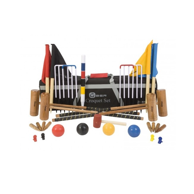 4 Player Wooden Croquet Set