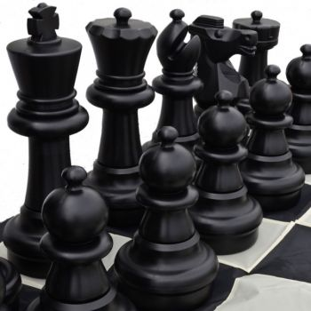 60cm Size Giant Black Piece Chess Set
