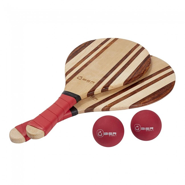 Premium Paddle Bat & Ball Set with Carry Bag