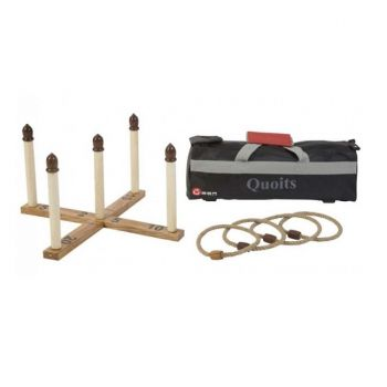 Four Peg Quoits Set
