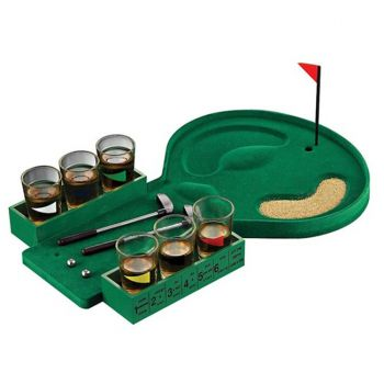 Miniature Golf Drinking Game Set