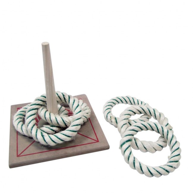 Single Peg Rope Quoits (American Style)