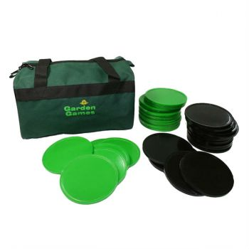 Supersize Giant 4 Black and Green Disks and Carry Bag
