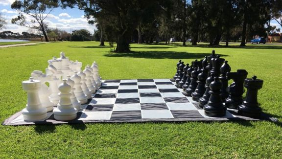 Giant Chess in the Park