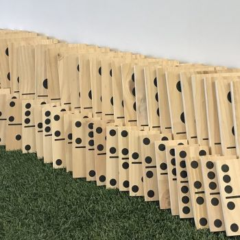 Mega Wooden Dominoes - Display